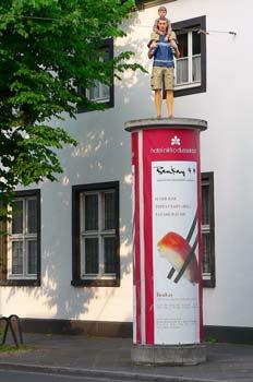 Decoración urbana en Dusseldorf, Alemania