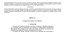 Curriculum Histoire Espagne et France