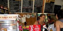 Interior de un pequeño restaurante rural, Australia