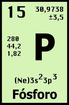 Tabla periódica,  fósforo