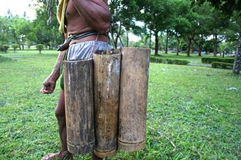 Recolector de vino de Palma, Jogyakarta, Indonesia