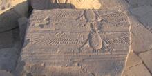 Restos de lápida, Philae, Egipto