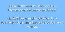 #25F Día Internacional del Implante Coclear