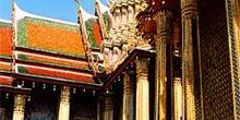 Detalle de decoraciones de tejados thai, Tailandia