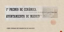 Primer premio Cerámica Escolar 2019. Madrid
