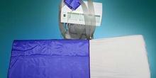 Presoterapia: colocación de alforjas de sujección de tubos