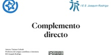 Complemento directo