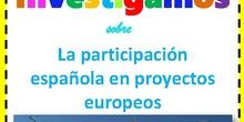 Proyecto de investigación: Participación de España en proyectos de la Unión Europea