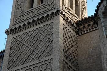 Iglesia de San Miguel de los Navarros. Detalle de la torre, Zara