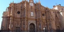 Fachada principal de la Catedral de Guadix, Granada, Andalucía