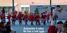 Navidad-Actuación 3 años