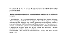 Séance 3: Promotion de l'idée coloniale en France. Discours et justifications de la colonisation - Textes et documents représentatifs