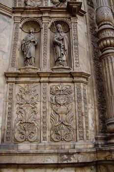 Detalle de la portada de la Basílica de Santa Engracia, Zaragoza