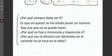 Dudas: Divisiones con decimales en el cociente