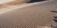 Ondulaciones de arena en escorzo, Namibia