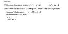 Álgebra: 16.Bicuadradas