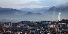 Vista general de la ciudad de Oviedo, Principado de Asturias