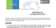 Panorama de la Educación 2017: Indicadores de la OCDE - España