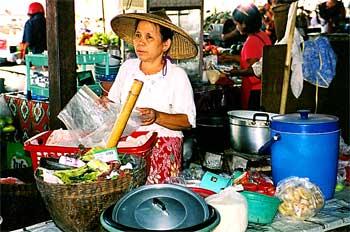 Puesto de productos thai, Tailandia