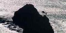 Cabo Reinga a contraluz, Nueva Zelanda