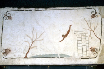 El bañista, Paestum, Italia