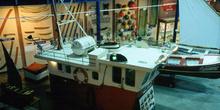 Vista aérea del puente de un barco de pesca, Museo Marítimo de A