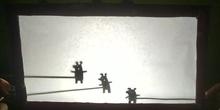 Cuento de los tres cerditos. Teatro de sombras
