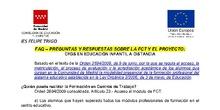 PREGUNTAS Y RESPUESTAS SOBRE LA FCT Y EL PROYECTO