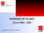INSTRUCCIONES COMIENZO DE CURSO COVID