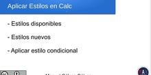 Hoja de Cálculo Calc de LibreOffice - Aplicando estilos