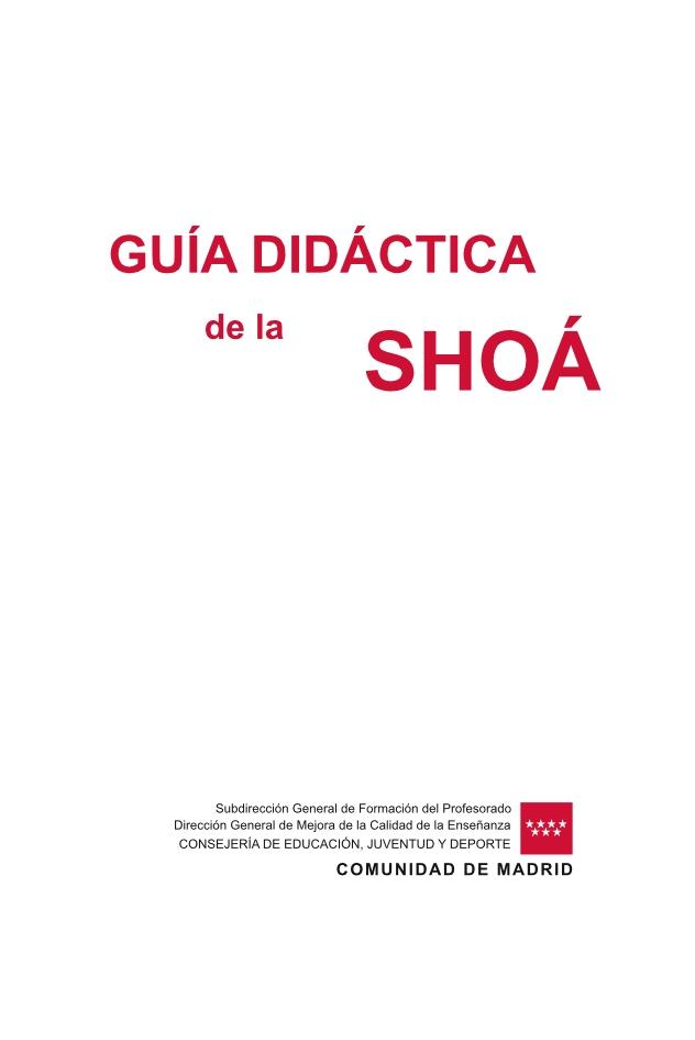Página 1 de la Guía Didáctica de la Shoá