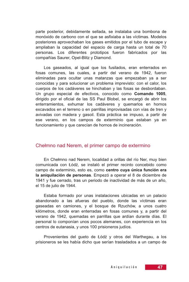 Página 47 de la Guía Didáctica de la Shoá