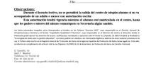 AUTORIZADOS PARA SALIR DEL CENTRO RECOGER