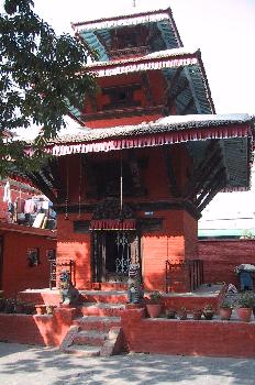 Pagoda en la plaza del Palacio de los Reyes Malla, Katmandú, Nep
