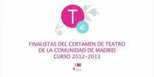 XX CERTAMEN DE TEATRO ESCOLAR DE LA COMUNIDAD DE MADRID. ACTUACIÓN DE GRUPOS FINALISTAS EN EL TEATRO ESPAÑOL. CURSO 2012-13