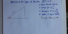 Aplicación leyes de Newton