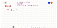 Ecuaciones con radicales.