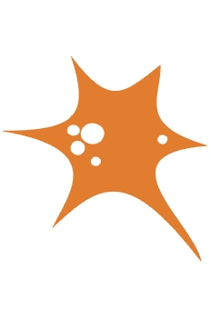 Globo naranja explotando