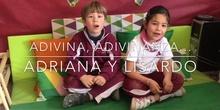 INFANTIL - 5 AÑOSA - ADIVINANZAS - ADRIANA Y LISARDO - ANIMACIÓN A LA LECTURA