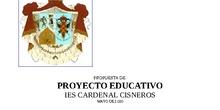 Propuesta de Proyecto Educativo de Centro IES Cardenal Cisneros