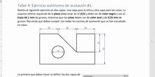 Taller 4 - Acotación en LibreCAD