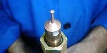 Electrodo de cobre para soldadura de clavos