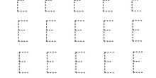 Ficha de repaso de la vocal E