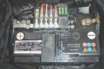 Batería con fusibles de seguridad