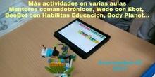#cervanbot IV: Más actividades en diversos talleres y aulas (grabaciones realizadas por alumn@s)