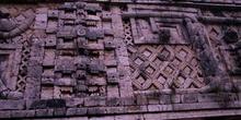 Detalle del friso del Cuadrángulo de las Monjas, Uxmal, México