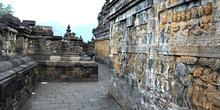 Corredor, Templo Borobudur, Jogyakarta, Indonesia