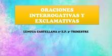 ORACIONES INTERROGATIVAS Y EXCLAMATIVAS - LENGUA 2º