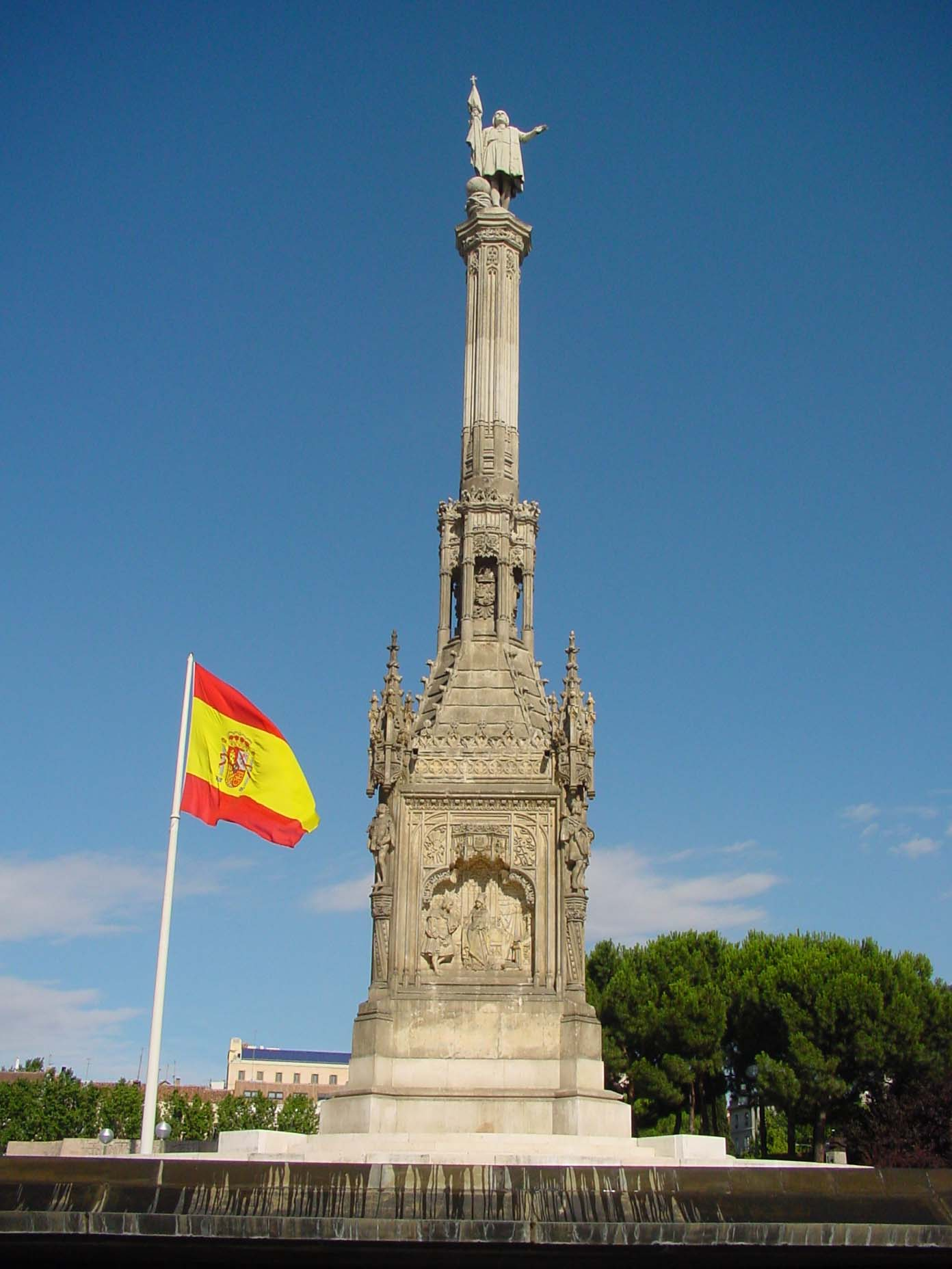 Estatua de Colón en Madrid