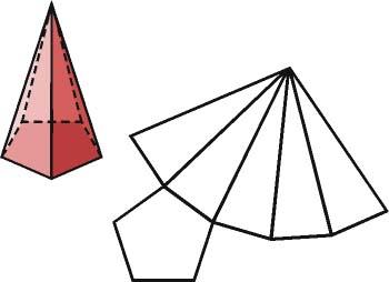 Pirámide regular y su desarrollo
